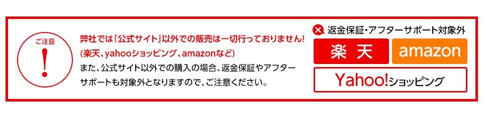 デオシークは公式サイトでしか販売されていないという注意書き