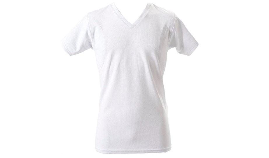 脇汗Tシャツ 汗を吸収するわき汗パッド付き メンズ消臭インナー 抗菌防臭