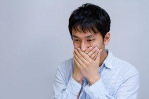 加齢臭に悩む男性のイメージ画像