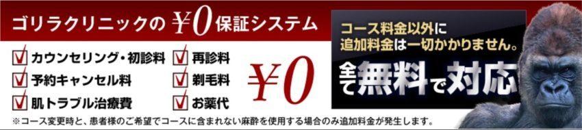 ゴリラクリニック0円保障システム