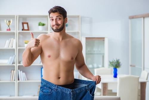 ダイエットに成功した男性