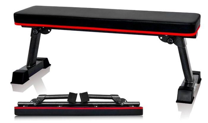 YouTen(ユーテン) フラットベンチ ダンベル トレーニング 耐荷重300kg 折りたたみ式
