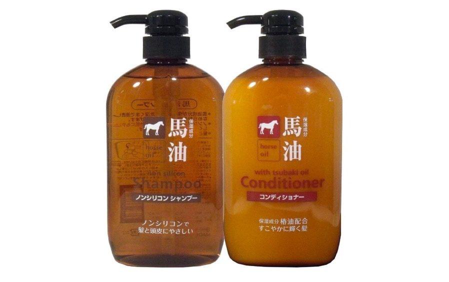 熊野油脂 馬油シャンプー & コンディショナー