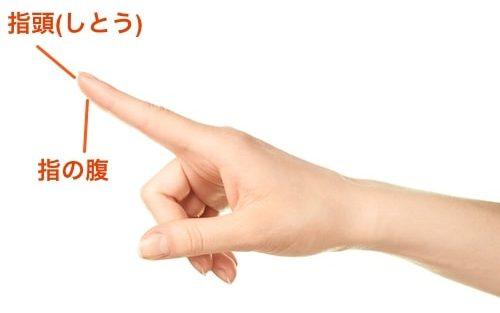 指頭と指の腹