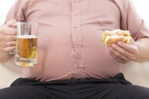 ぽっこりお腹肥満男性食事