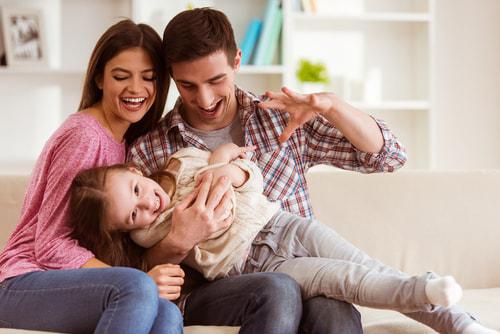 幸せな3人家族